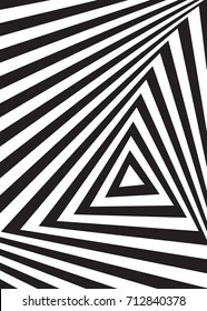 Optical illusion background. Abstract black Vector Illustration
