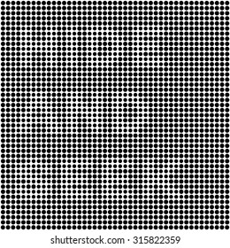 """optical illusion. disappearing op-art """"hide and seek"""" text. optical illusion black dots background. modern abstract texture for notebooks, party posters, games, applications and more."""
