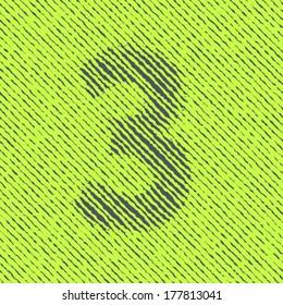 Optical illusion font, Number 3