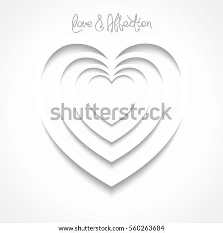 Optical Illusion Heart Shape Symbol Love Stock Vector Royalty Free