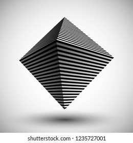 Optical illusion lines background. Abstract 3d black and white illusions. Conceptual design of optical illusion vector. EPS 10 Vector illustration