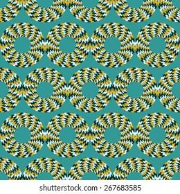 Optical illusion of motion. Vector illustration.