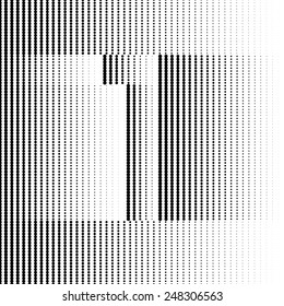 Optical Illusion number 1 - part of Dotted Optical iIllusion Alphabet