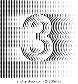 Optical Illusion number 3 - part of Dotted Optical iIllusion Alphabet