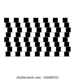 optical illusion parallel lines