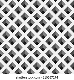 Optical illusion vector. trapezoid pattern background with monochrome. interlaced grid pattern. pigeonhole
