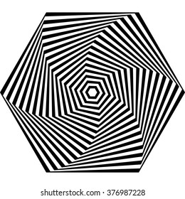 Optical illusion.Monochrome