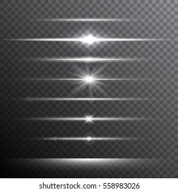 Optical lens flare light effects. Vector illustration