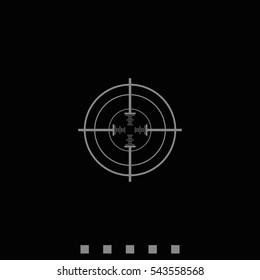 Optical sight icon.
