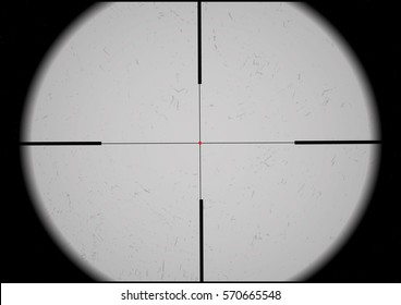 Optical sight. Sniper scope crosshairs. Military and weapon.