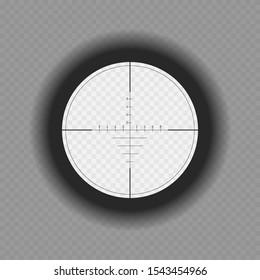 Optical sniper scope sight. Vector illustartion.