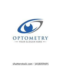 Optometry logo template vector illustration