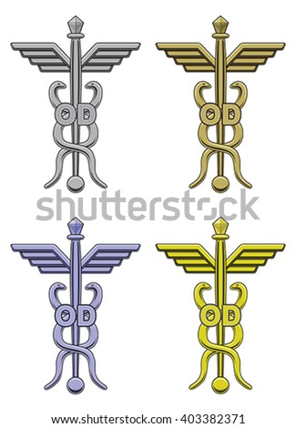 Optometry Symbol Four Colors Illustration Optometry Stock Vector