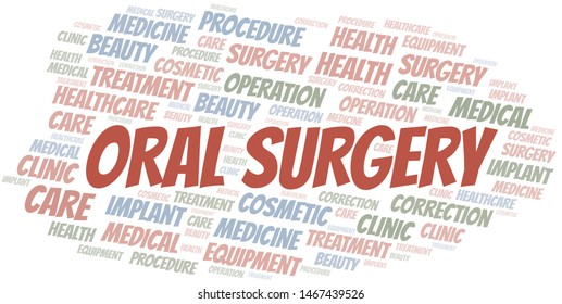 Oral Surgery word cloud vector made with text only