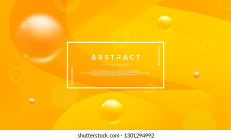 Orange abstract background with a dynamic liquid shape. Minimal fluid background for posters, placards, brochures, banners, web pages, headers, covers, and other. Eps10 vector background.