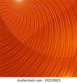 Orange abstract background with lines pointing to the center, place for your text