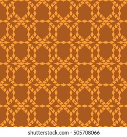 Orange abstract background, striped textured geometric seamless pattern