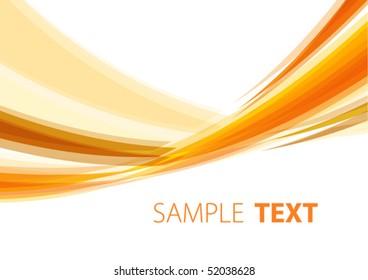 Orange abstract background. Vector