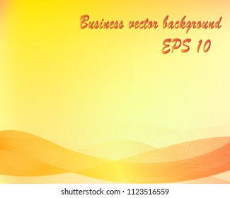 Orange abstract business vector background, space for text. Eps 10.