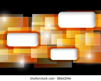 orange abstract card. vector illustration
