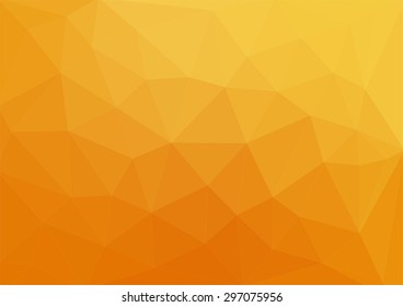 orange abstract geometric rumpled triangular low poly style vector illustration graphic background