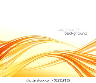Orange abstract lines background. Vector illustration EPS 10