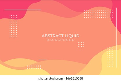 orange abstract liquid shape vector background