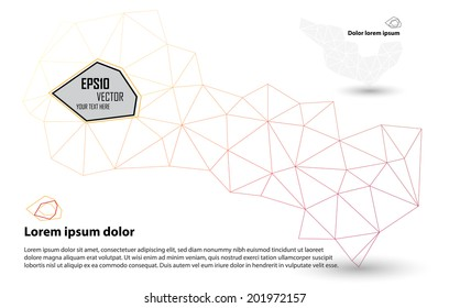 Orange Abstract Mesh Background, Lines and Shapes | EPS10 Design Layout for Your Business