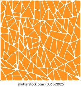 Orange abstract patch vector texture background