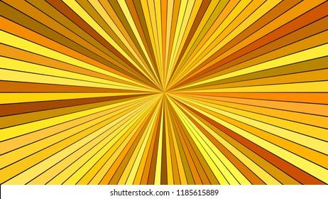 Orange abstract psychedelic star burst stripe background - vector blast design