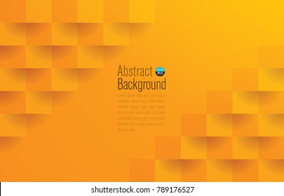 Orange abstract texture. Vector background 3d paper art style can be used in cover design, book design, poster, cd cover, website backgrounds or advertising.