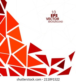 Orange Abstract Triangle Background, Vector Eps10