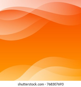 Orange Abstract Vector Background with Waves for Use in Design. Modern Colorful Texture.