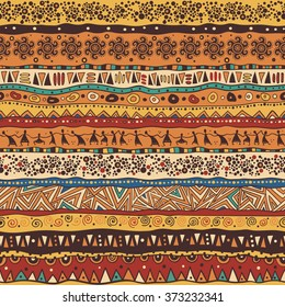 Orange African pattern