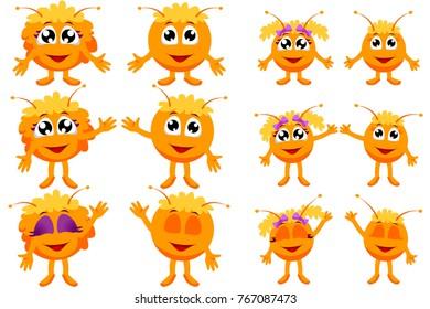 Orange alien (vector character)