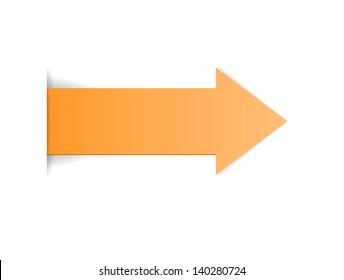 The orange arrow with hidden edge effect / The orange arrow / The arrow