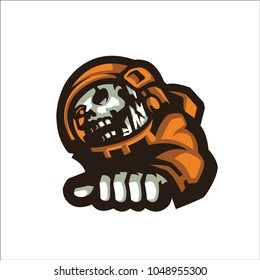 Orange Astronot E Sport Logo
