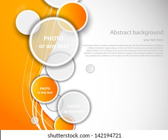 Orange background with circles