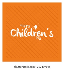 an orange background with text for children's day