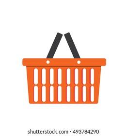 Orange Basket icon, Basket icon vector