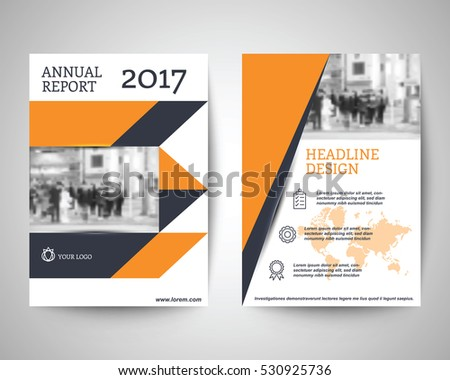 Orange Black Abstract Flyer Layout Template Stock Vector Royalty