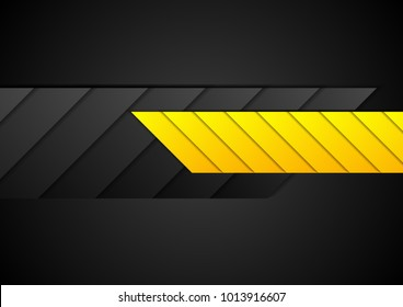 Orange and black contrast abstract technology background. Vector corporate geometric design