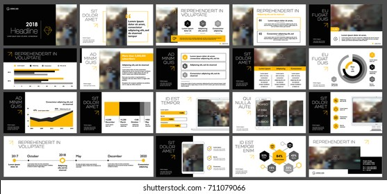 Orange and black elements for infographics on a white background. Presentation templates. Use in presentation, flyer and leaflet, corporate report, marketing, advertising, annual report, banner.