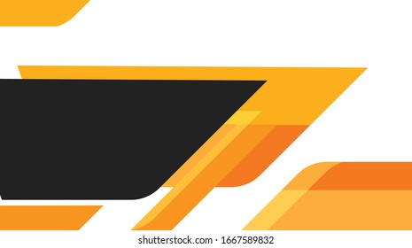 Orange and black geometric abstract corporate background. Vector.