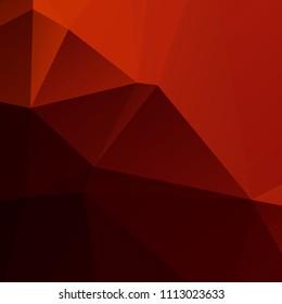 Orange and black polygon background