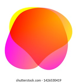 orange blob shape free from for background, blob flat geometric simple, liquid stain brush flat blob for label ad copy space, fluid spot template for graphic, simple banner colored gradient wave shape
