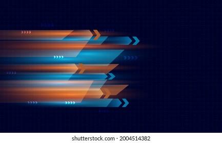 orange and blue light speed abstarct background.Digital motion hi-tech   design concept.