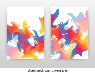 Orange blue mixed concept abstract design of annual report, brochure, flyer, poster. Colorful abstract background vector illustration for flyer, leaflet, poster. Business A4 brochure template.
