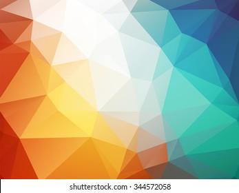 orange blue polygon background ice fire
