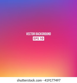 Orange, blue, purple, pink blur gradient. Vector, eps10.
